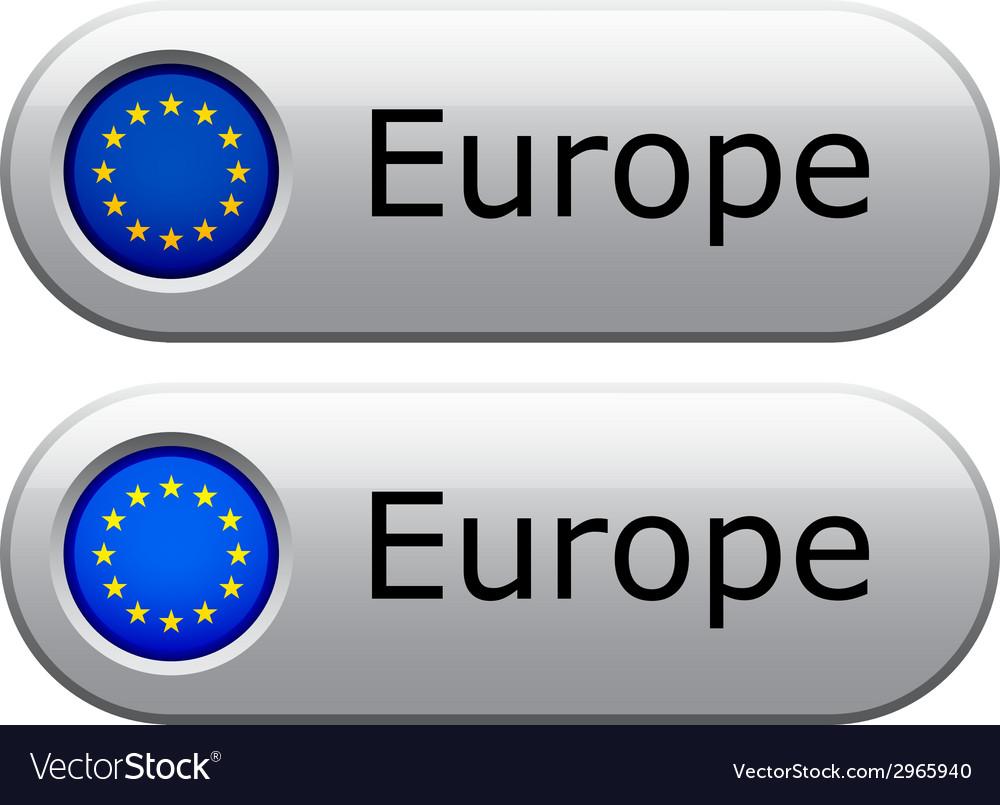 Eu flag buttons vector | Price: 1 Credit (USD $1)