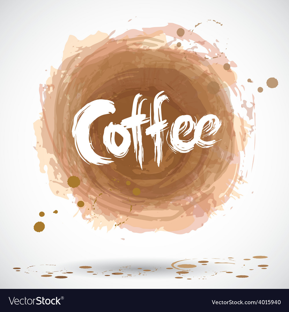 Grunge background with bright brown splash coffee vector | Price: 1 Credit (USD $1)