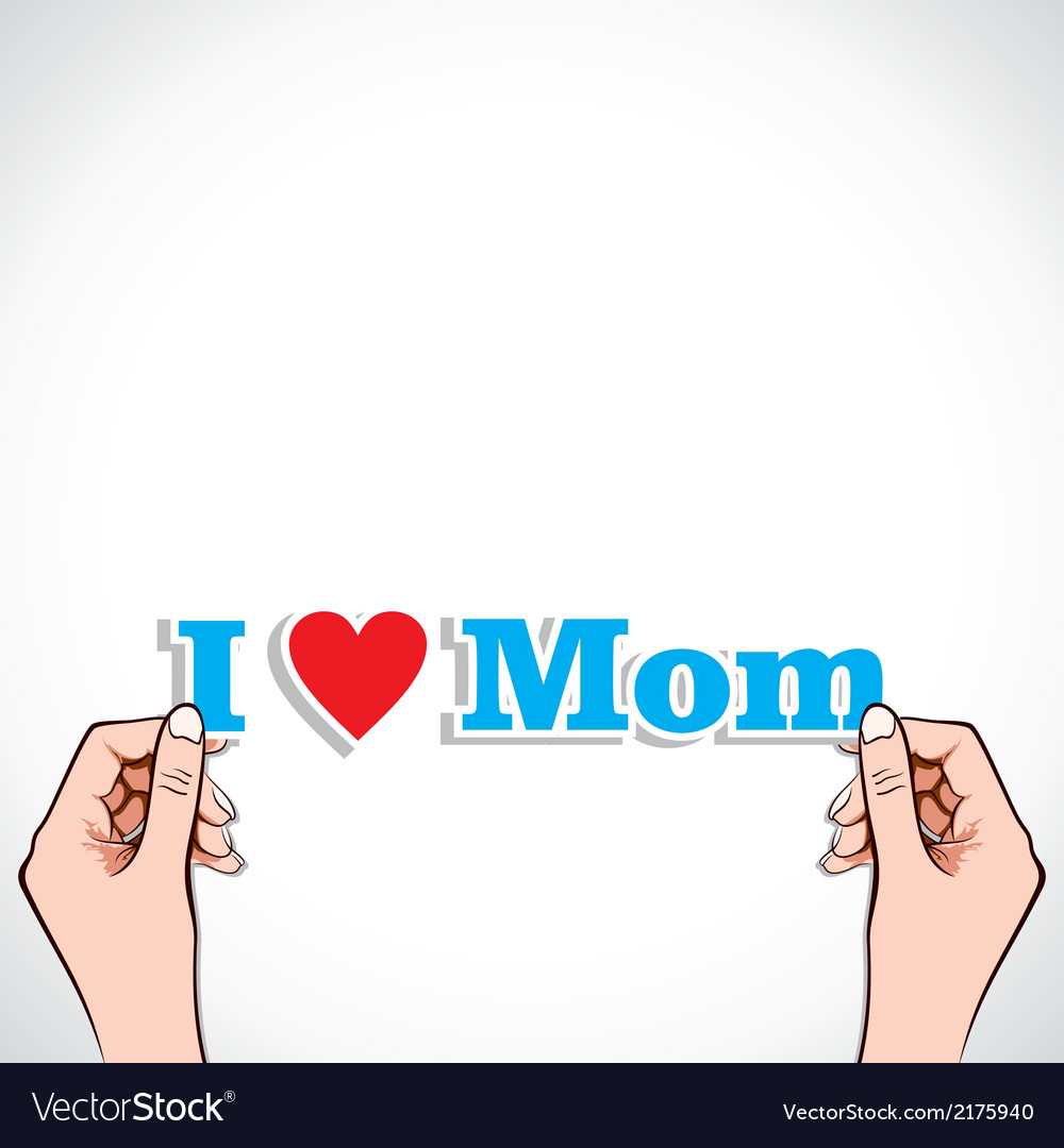 Love for mom concept vector | Price: 1 Credit (USD $1)