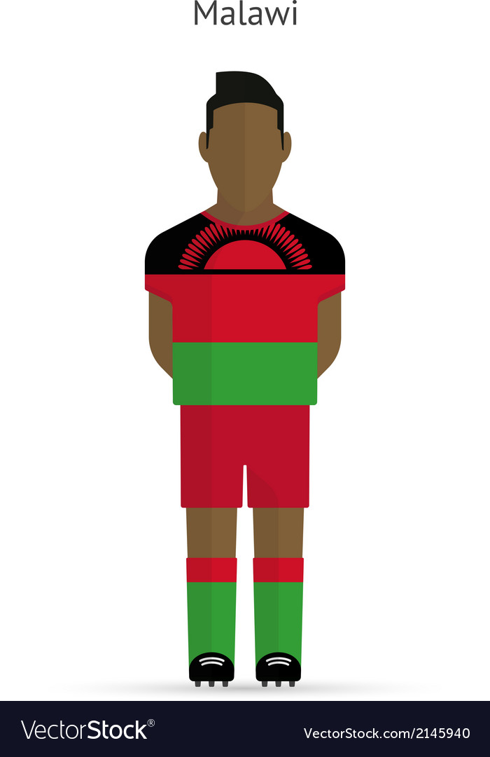 Malawi football player soccer uniform vector | Price: 1 Credit (USD $1)