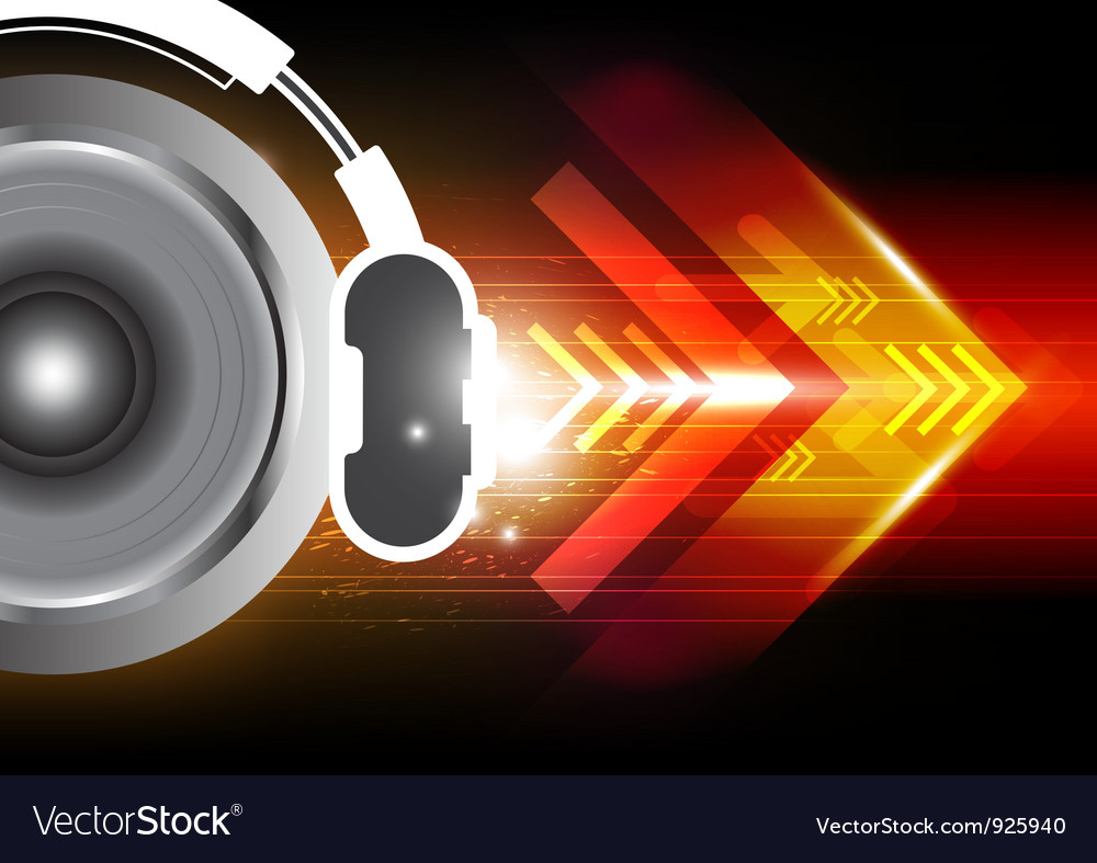 Power of sound from headphone vector | Price: 1 Credit (USD $1)