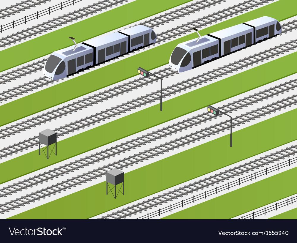 The railway vector | Price: 1 Credit (USD $1)