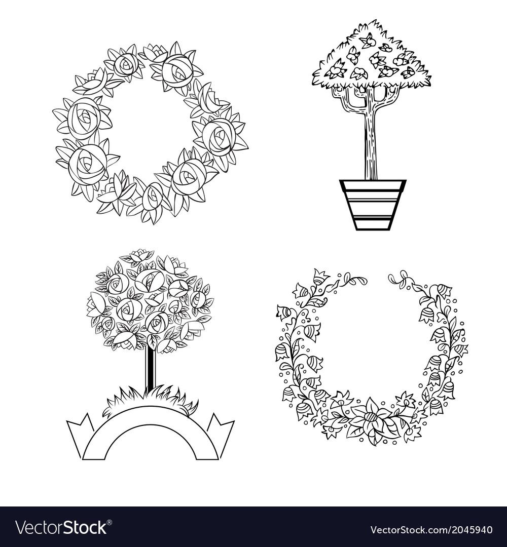 Set of floristic ornaments vector   Price: 1 Credit (USD $1)