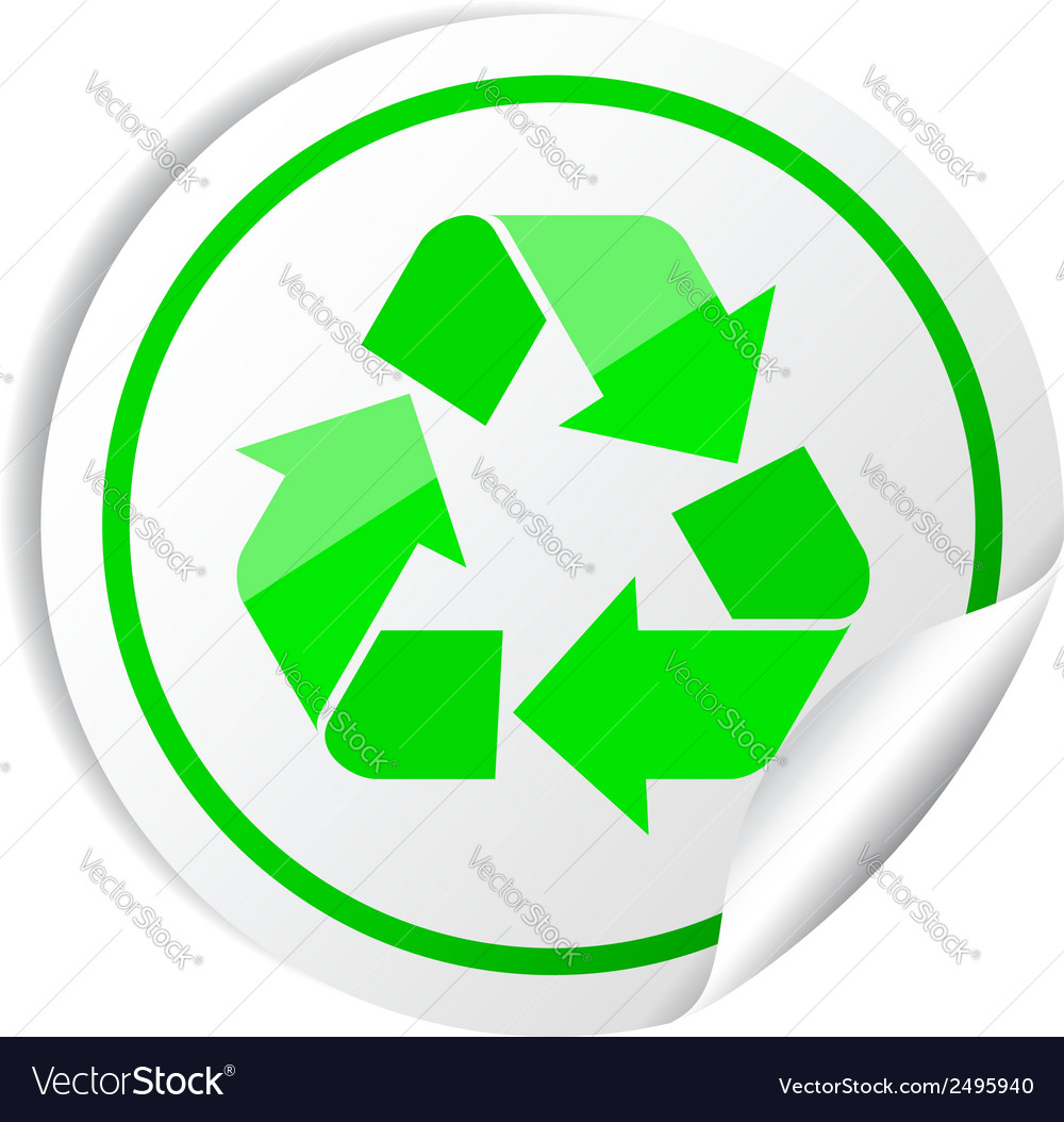 Sticker recycle symbol vector | Price: 1 Credit (USD $1)