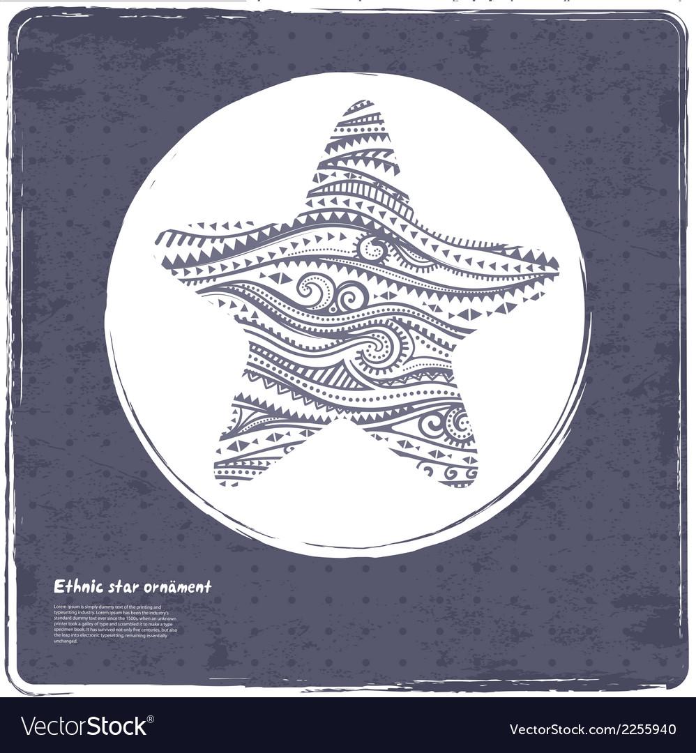 Vintage ethnic star vector | Price: 1 Credit (USD $1)