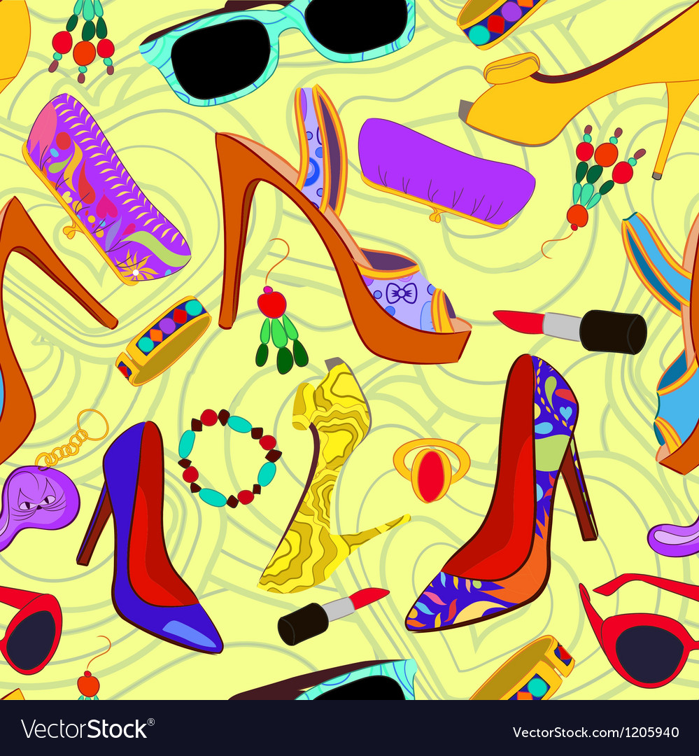 Womans accessory seamless pattern vector | Price: 1 Credit (USD $1)