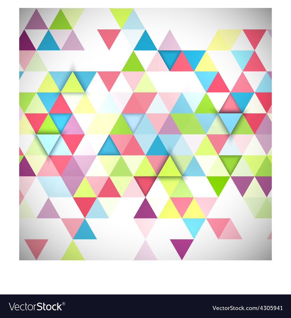 Abstract 3d triangles geometric background vector