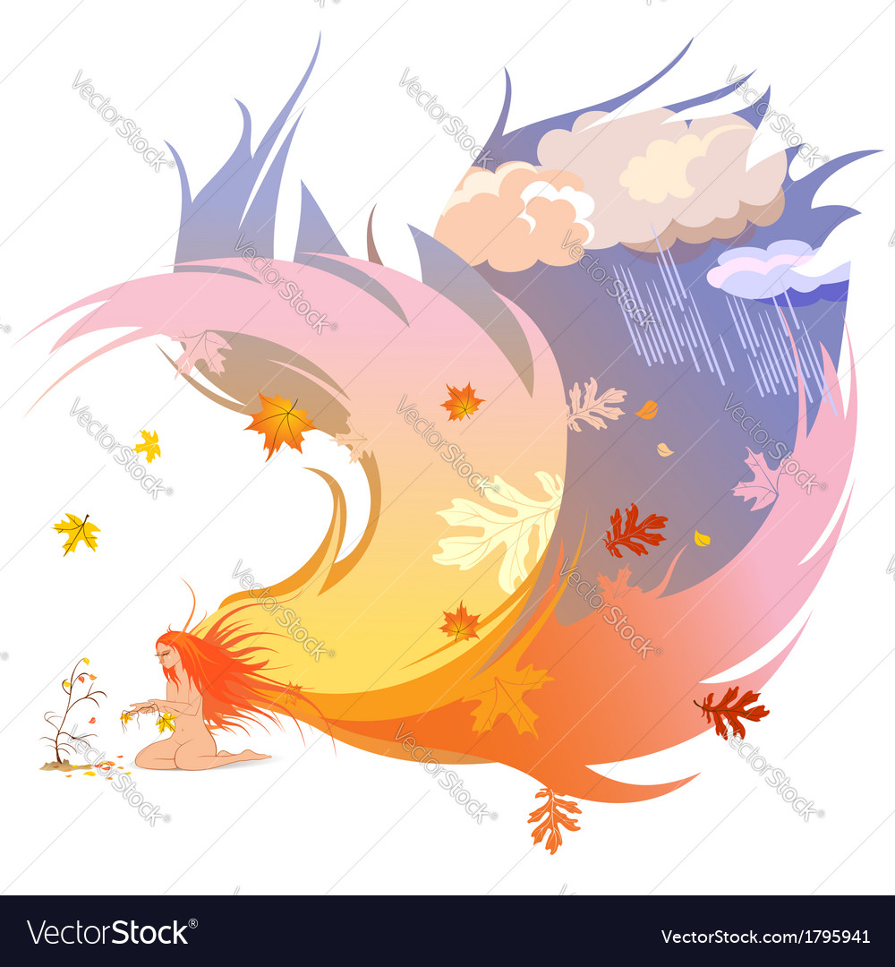 Autumn angel vector | Price: 1 Credit (USD $1)