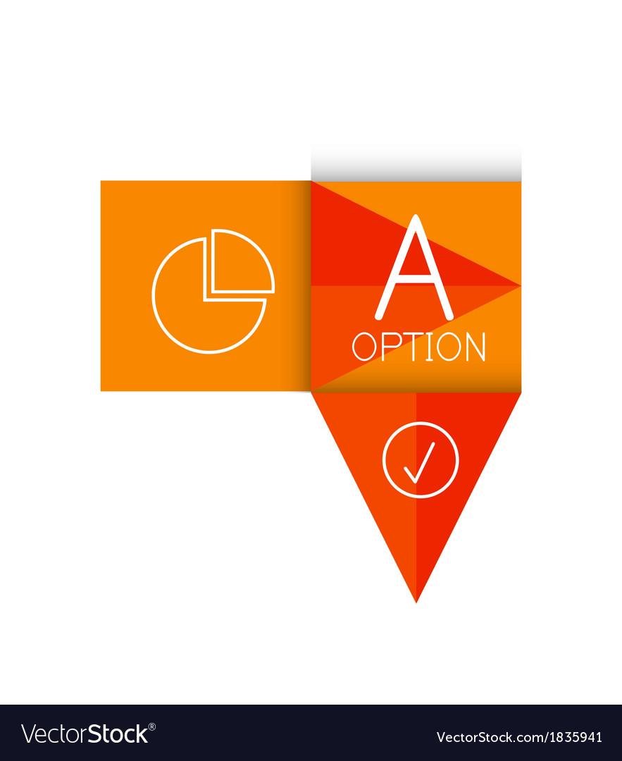 Color paper arrow design template vector | Price: 1 Credit (USD $1)