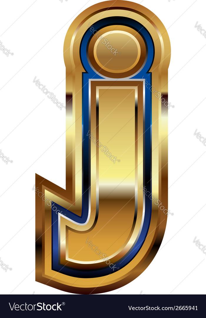 Golden font letter j vector | Price: 1 Credit (USD $1)