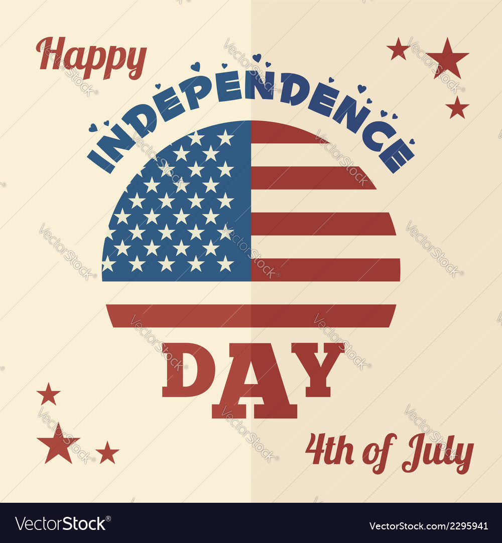 Happy independence day flat design vector | Price: 1 Credit (USD $1)