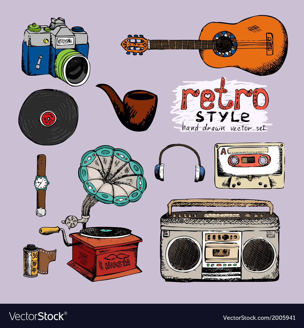 Hipster style music and photo vector | Price: 1 Credit (USD $1)