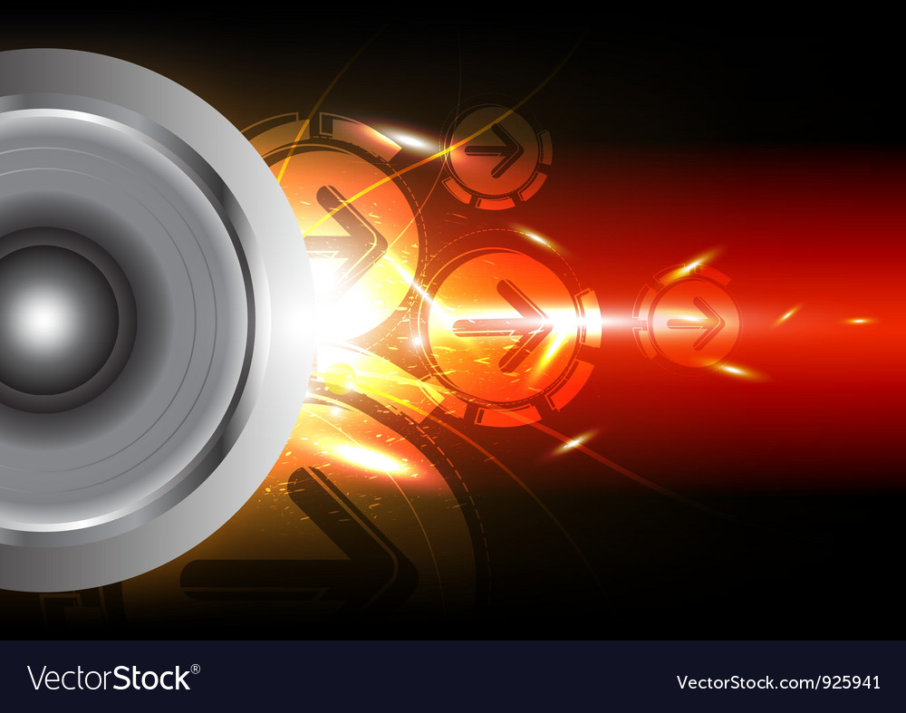 Power of sound from speaker vector | Price: 1 Credit (USD $1)