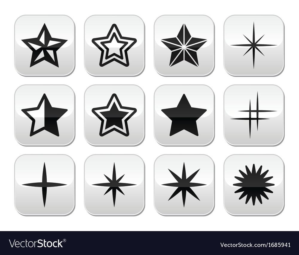 Stars christmas celebration buttons set vector   Price: 1 Credit (USD $1)
