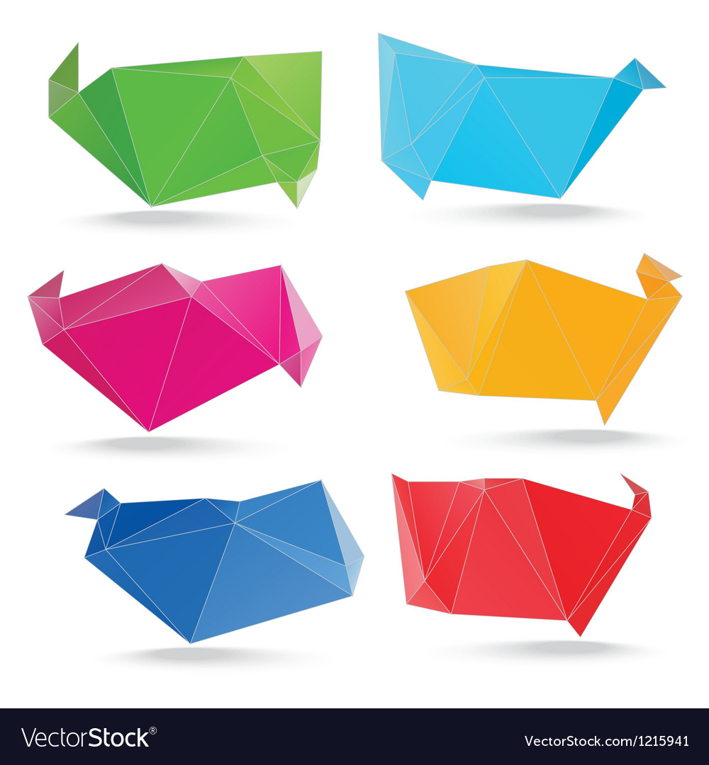 Trendy crystal triangle banner shapes vector | Price: 1 Credit (USD $1)