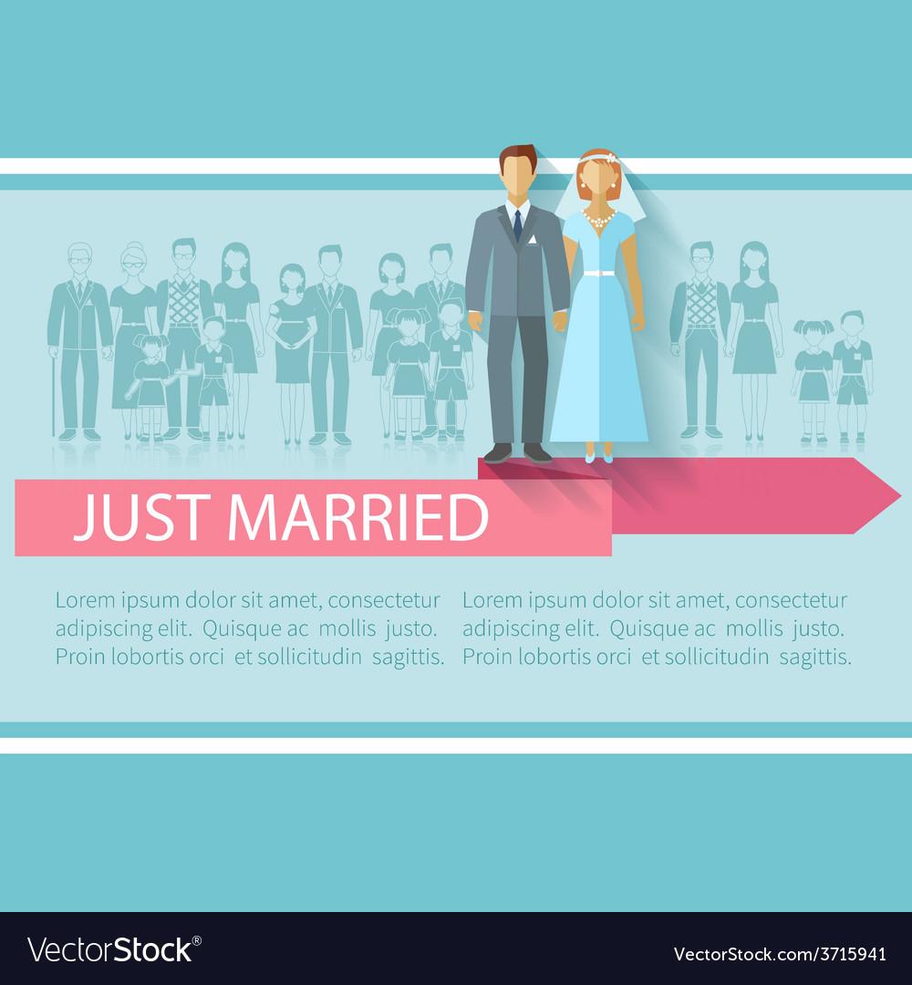 Wedding guests poster vector | Price: 1 Credit (USD $1)