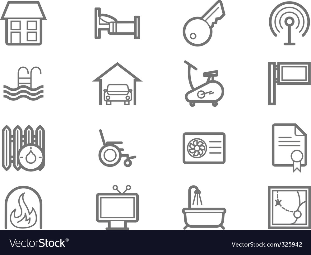 Amenities icons vector | Price: 1 Credit (USD $1)