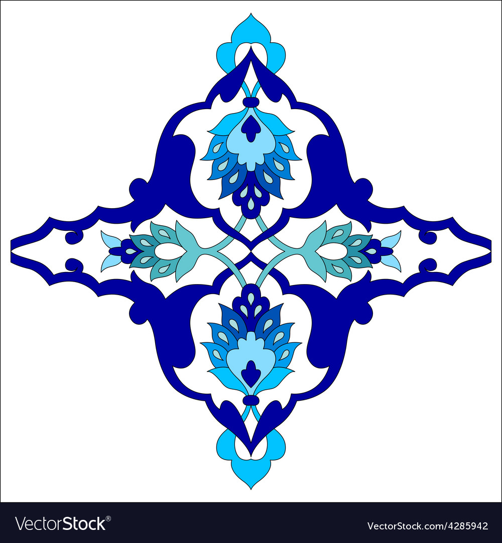 Artistic ottoman pattern series eighty one vector | Price: 1 Credit (USD $1)