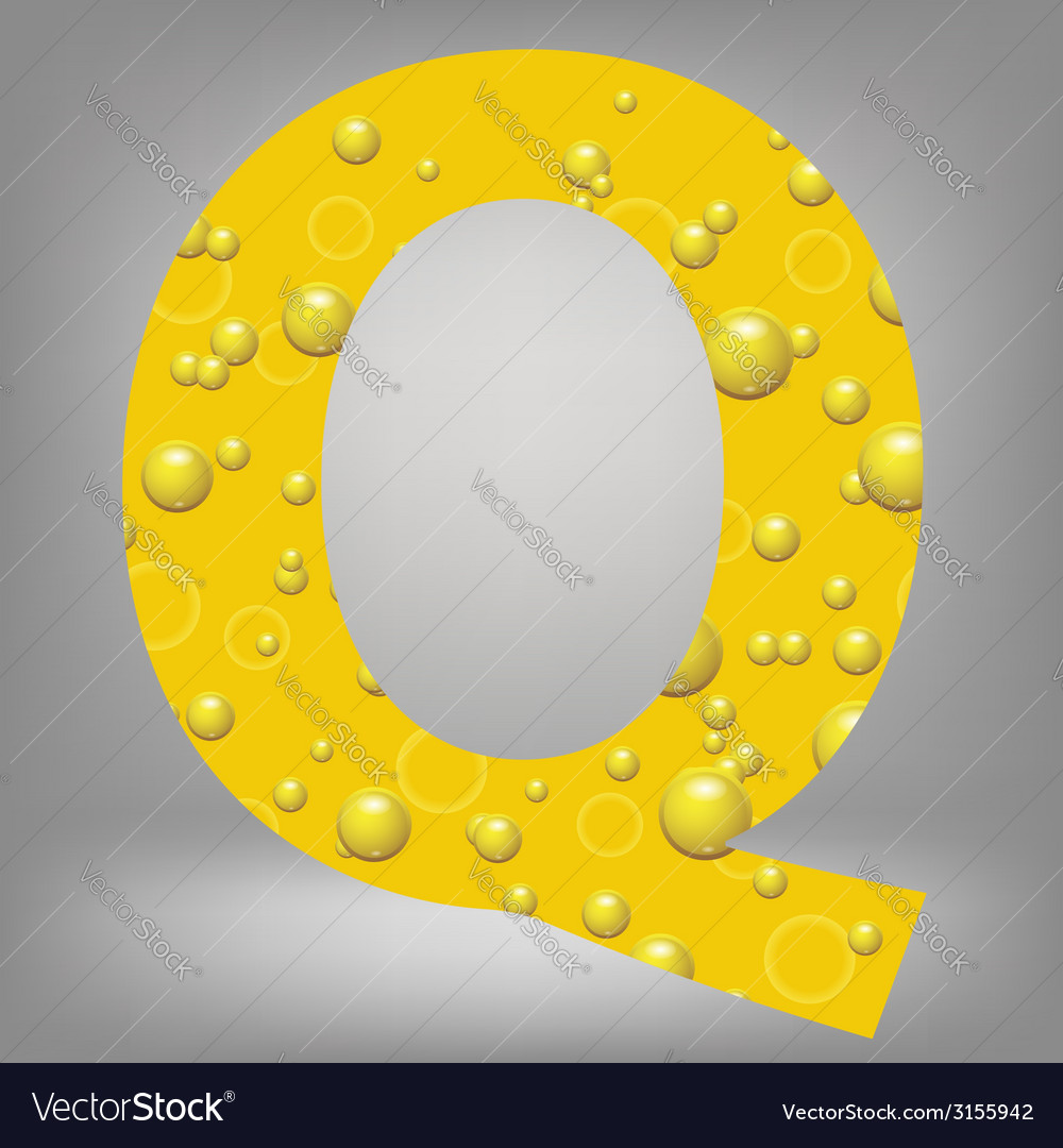 Beer letter q vector | Price: 1 Credit (USD $1)