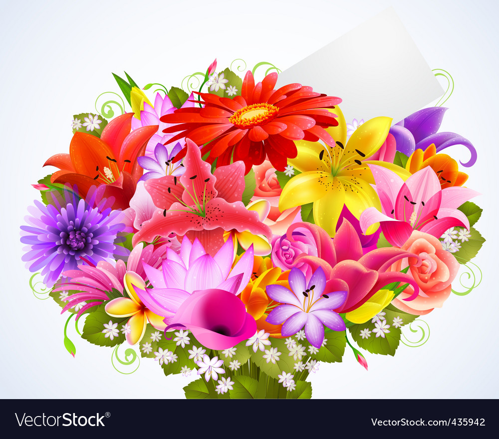 Bouquet of flowers vector | Price: 1 Credit (USD $1)