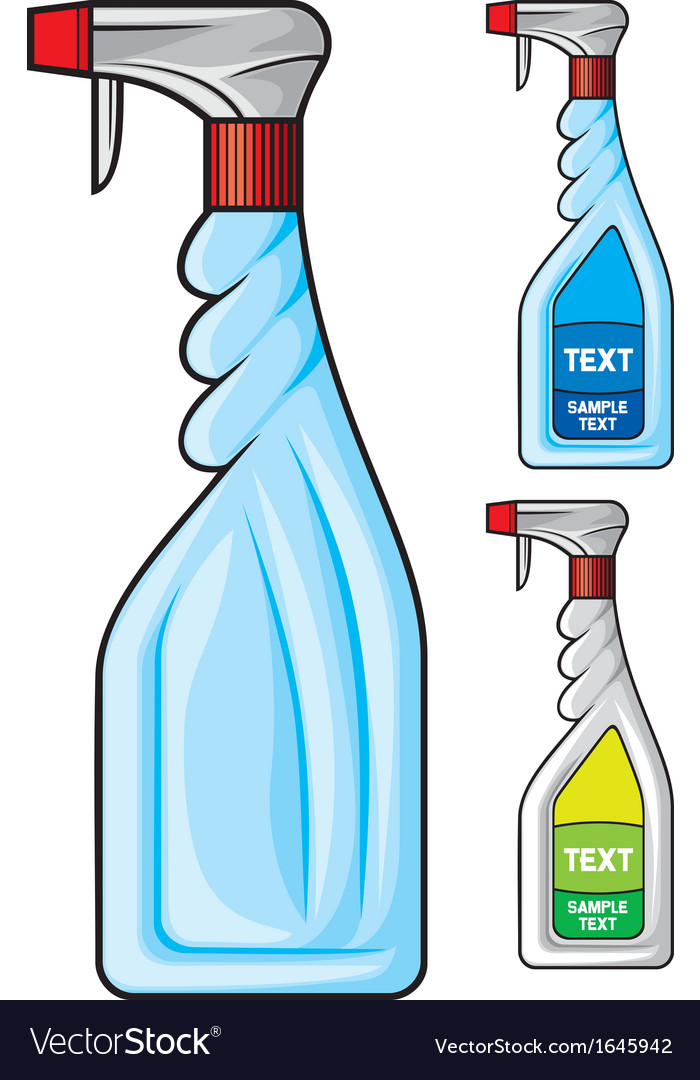 Cleaning spray bottle vector | Price: 1 Credit (USD $1)
