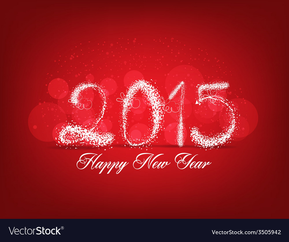 Happy new year abstract light background vector | Price: 1 Credit (USD $1)