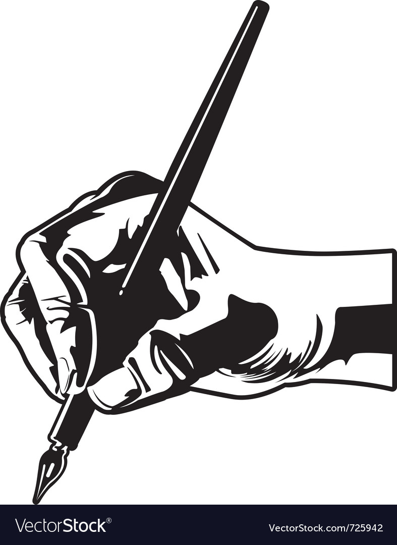 Holding a pen vector | Price: 1 Credit (USD $1)