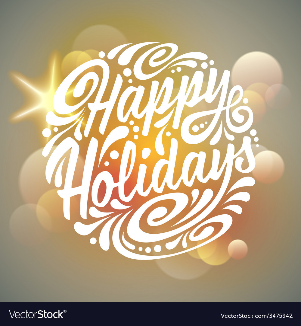 Holidays greeting card vector | Price: 1 Credit (USD $1)