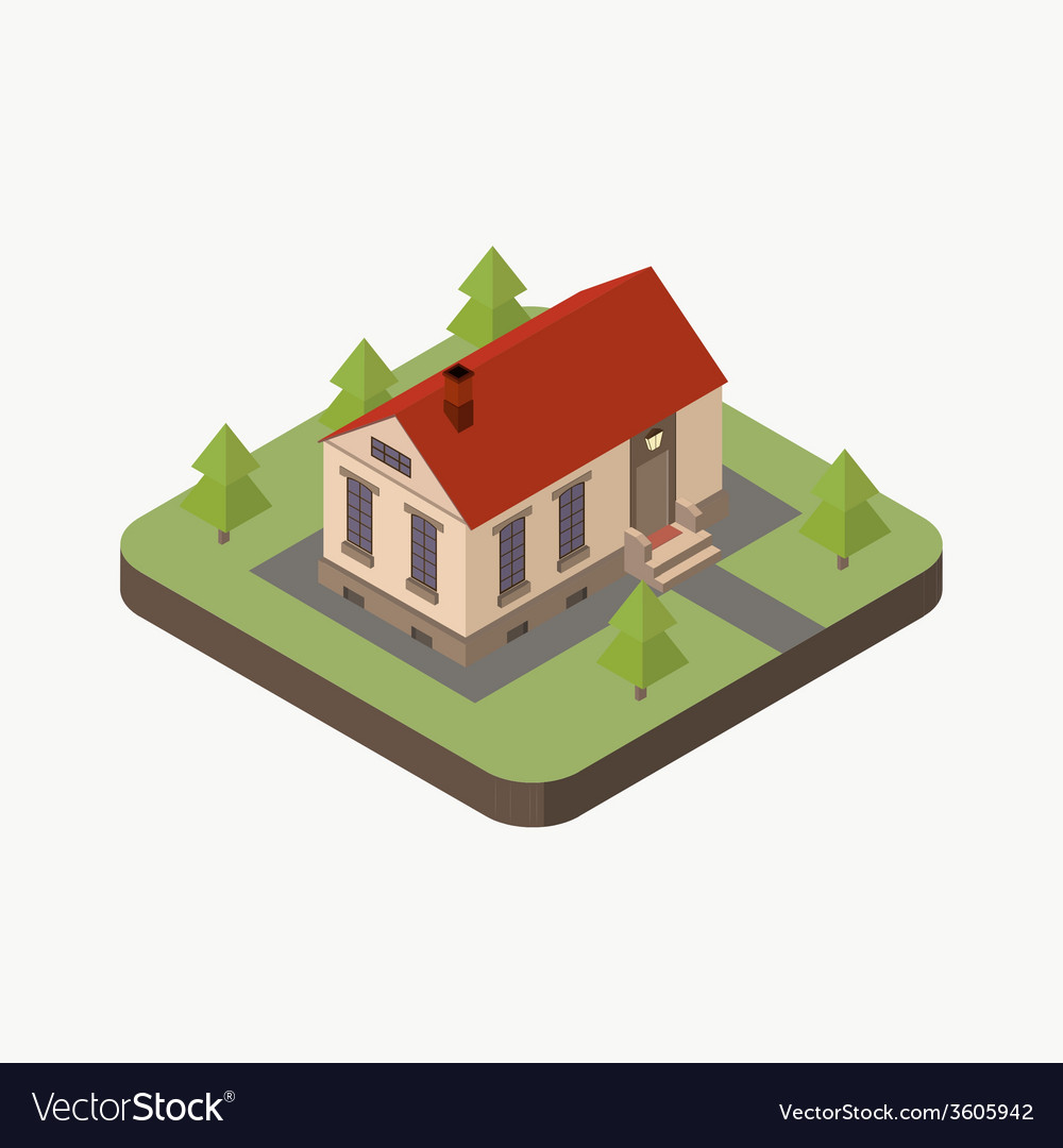 Isometric house vector | Price: 1 Credit (USD $1)