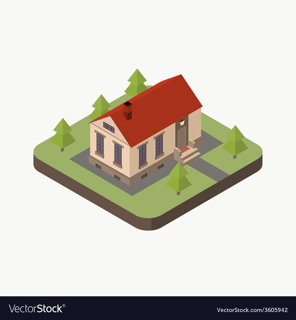 Isometric house vector | Price: 1 Credit (USD $1)