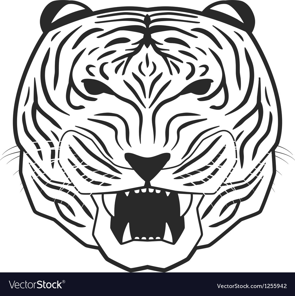 Line art tiger vector | Price: 1 Credit (USD $1)
