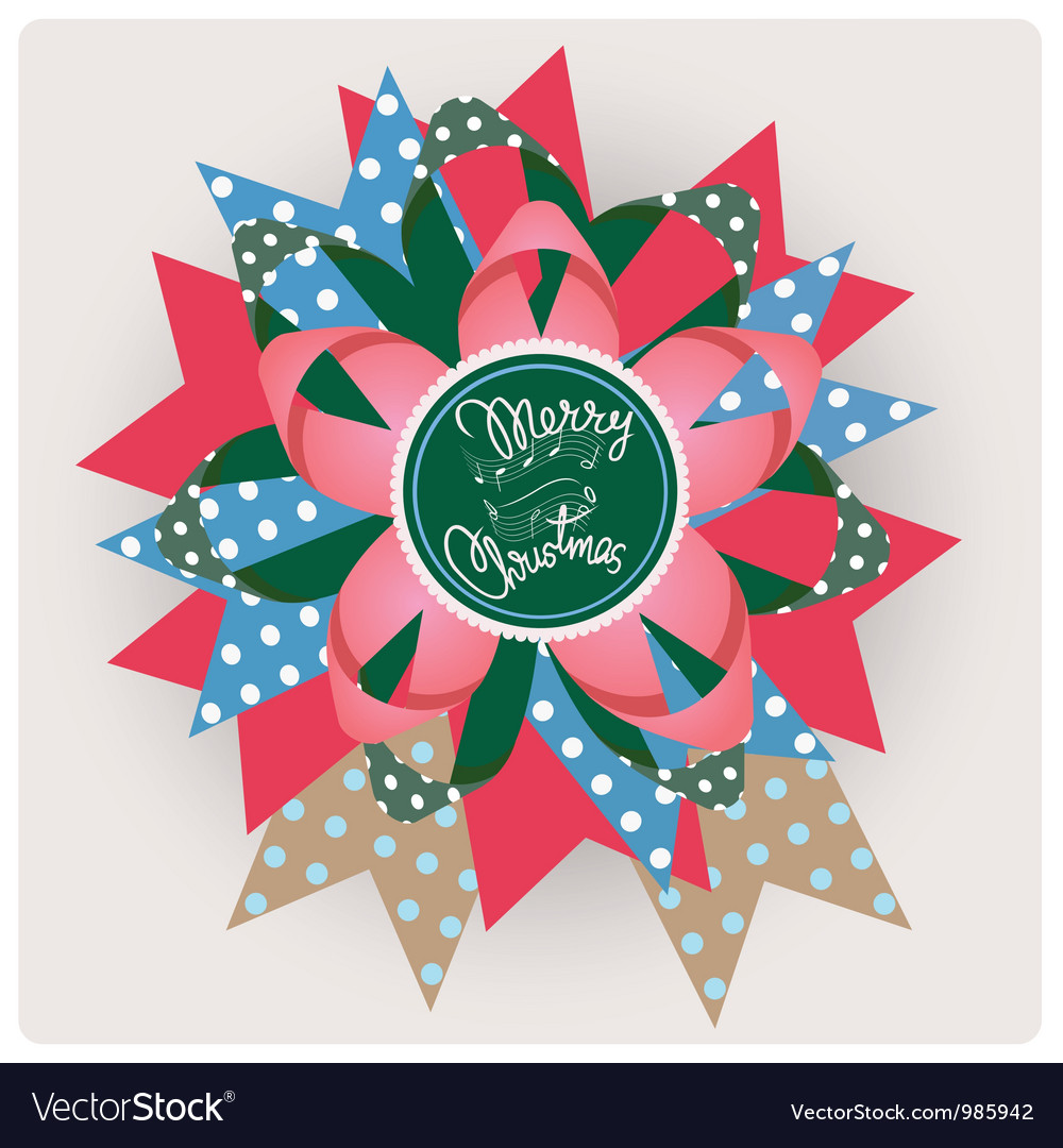 Merry christmas song paper jewelry vector | Price: 1 Credit (USD $1)