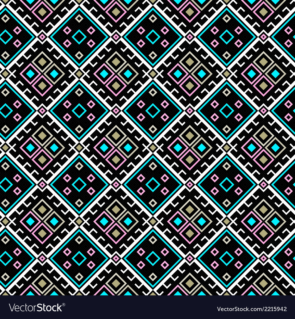 Seamless pattern with geometric shapes vector | Price: 1 Credit (USD $1)
