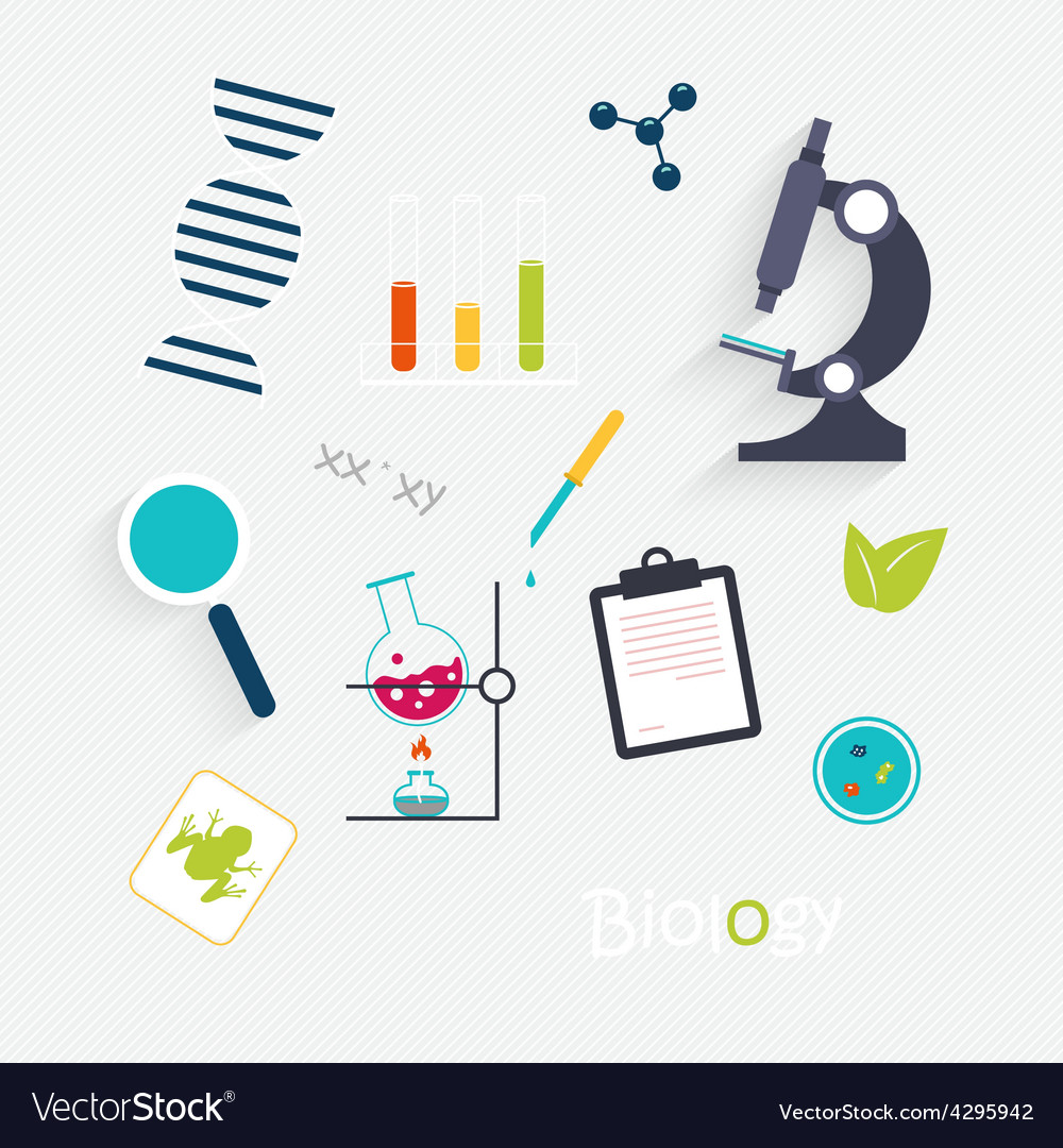 Set science lab objects and icons vector | Price: 1 Credit (USD $1)
