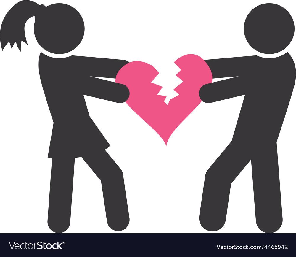 Torn heart vector | Price: 1 Credit (USD $1)