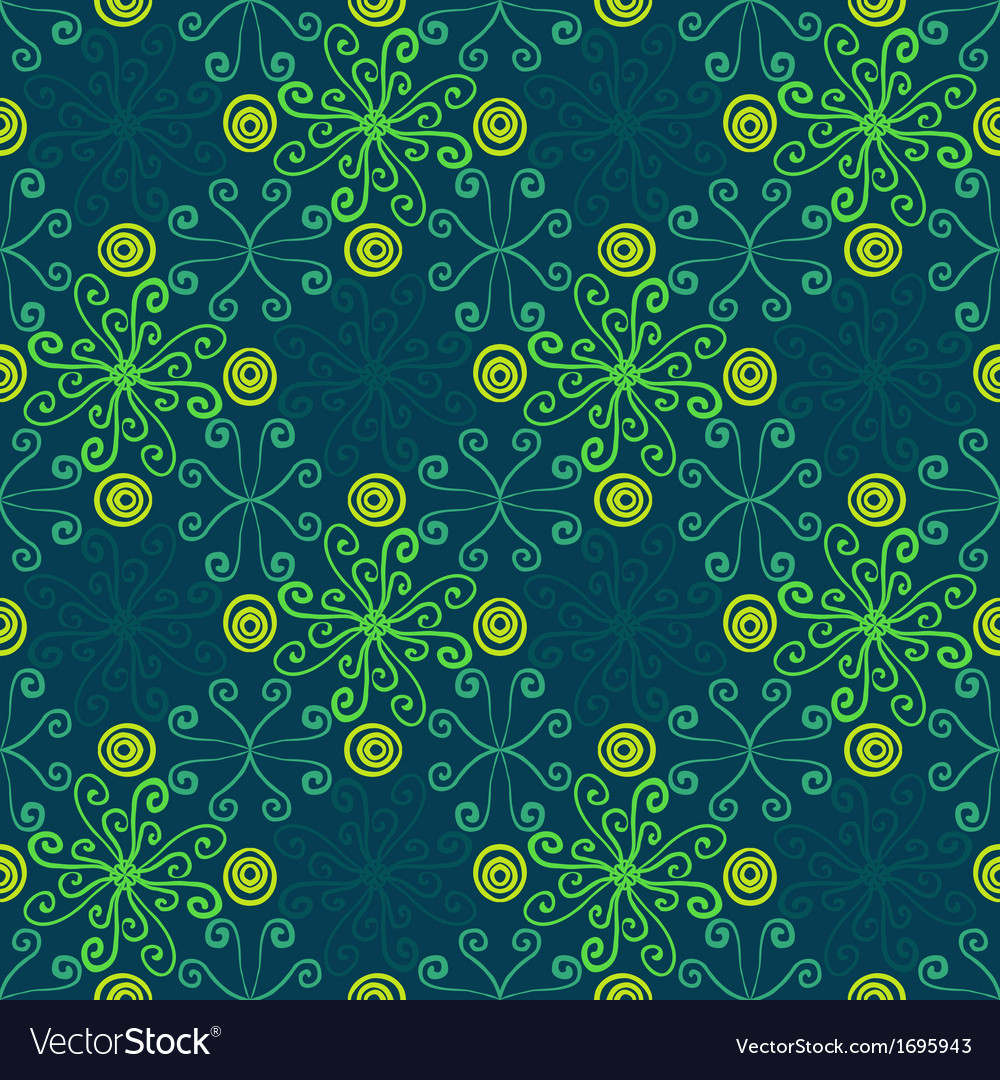 Abstract floral spring pattern vector | Price: 1 Credit (USD $1)