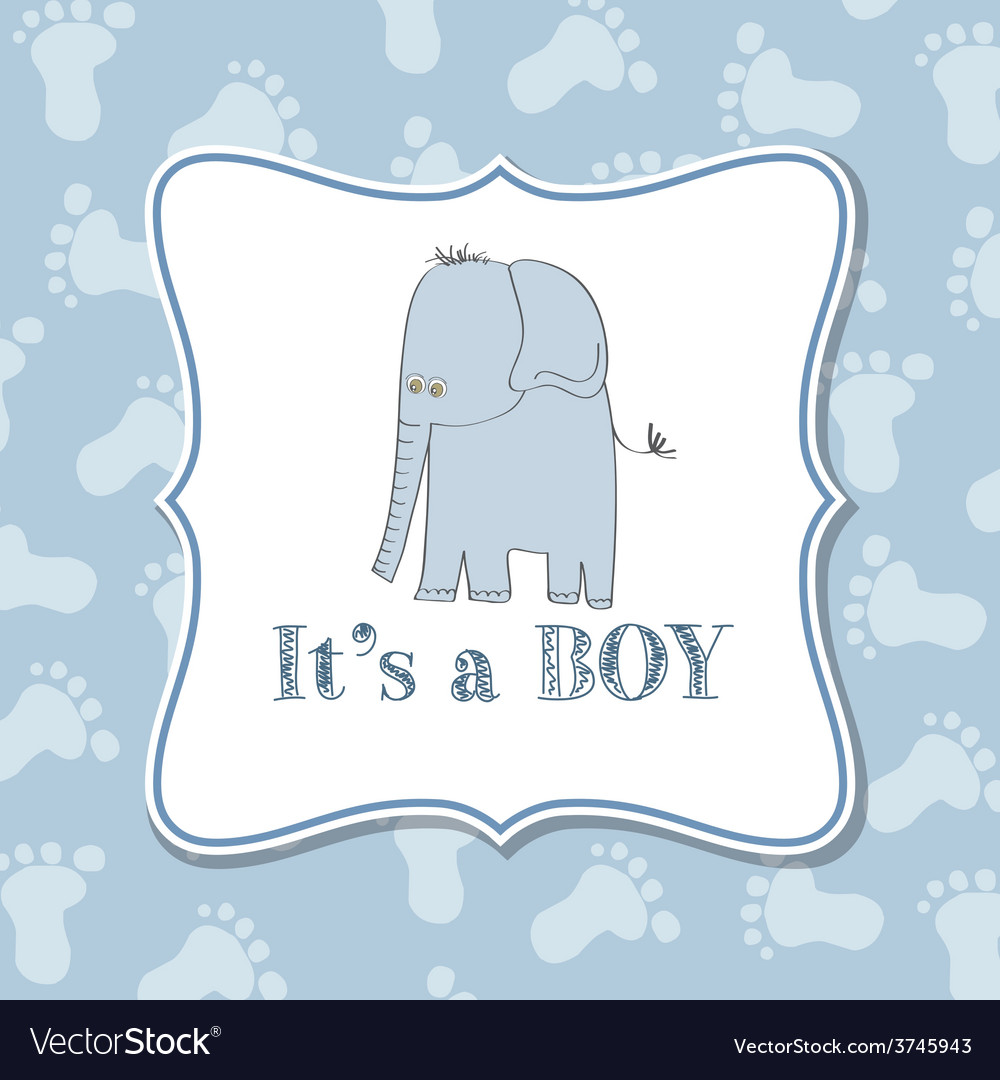 Baby boy invitation for baby shower vector | Price: 1 Credit (USD $1)