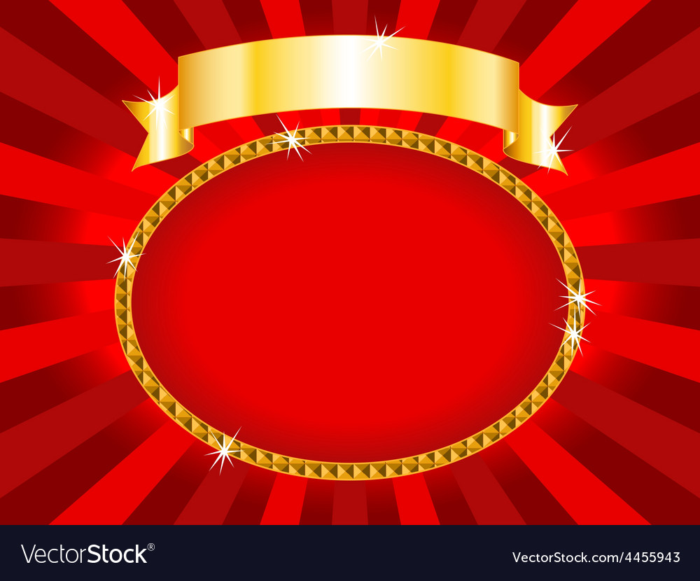 Billboard red and gold vector | Price: 1 Credit (USD $1)
