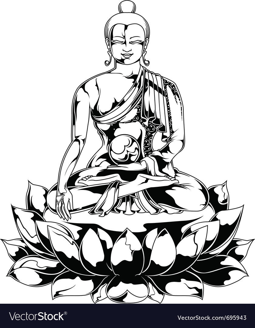 Budhha statue vector | Price: 1 Credit (USD $1)