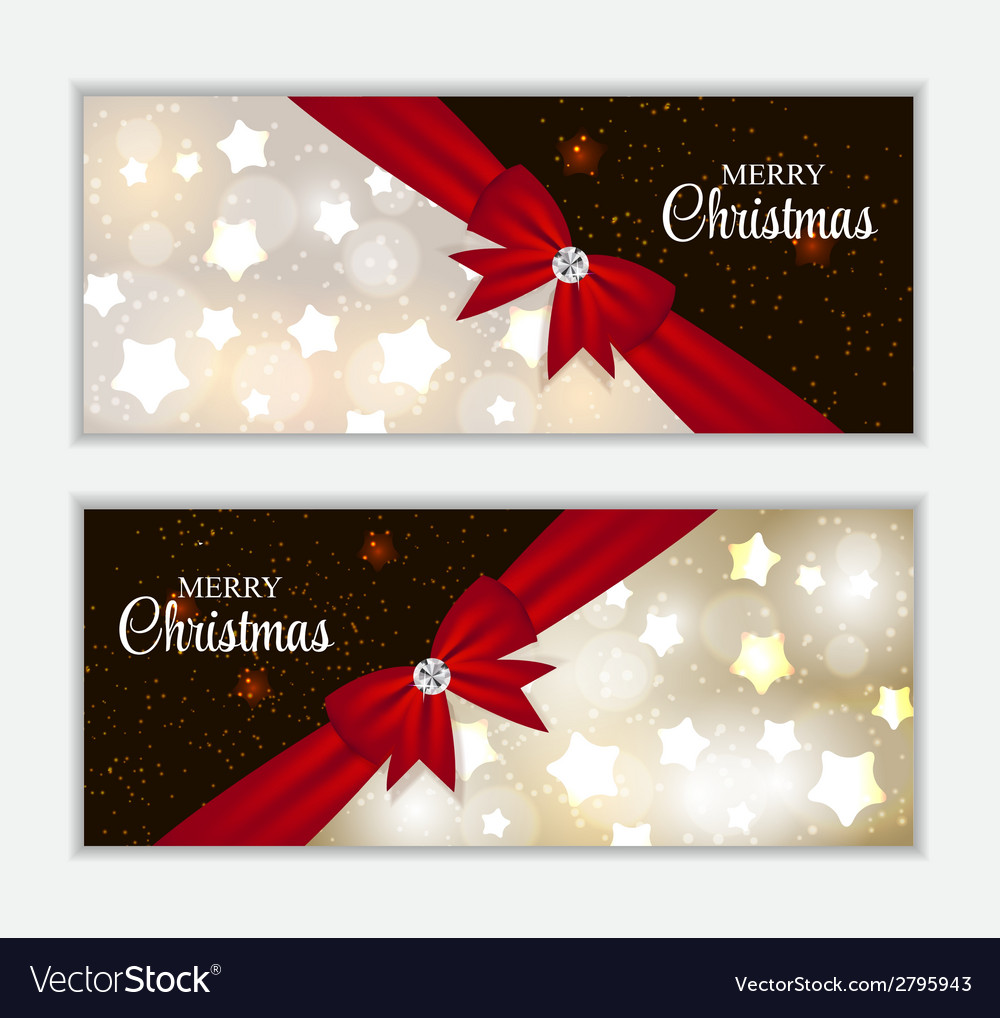 Christmas website banner and card background vector   Price: 1 Credit (USD $1)