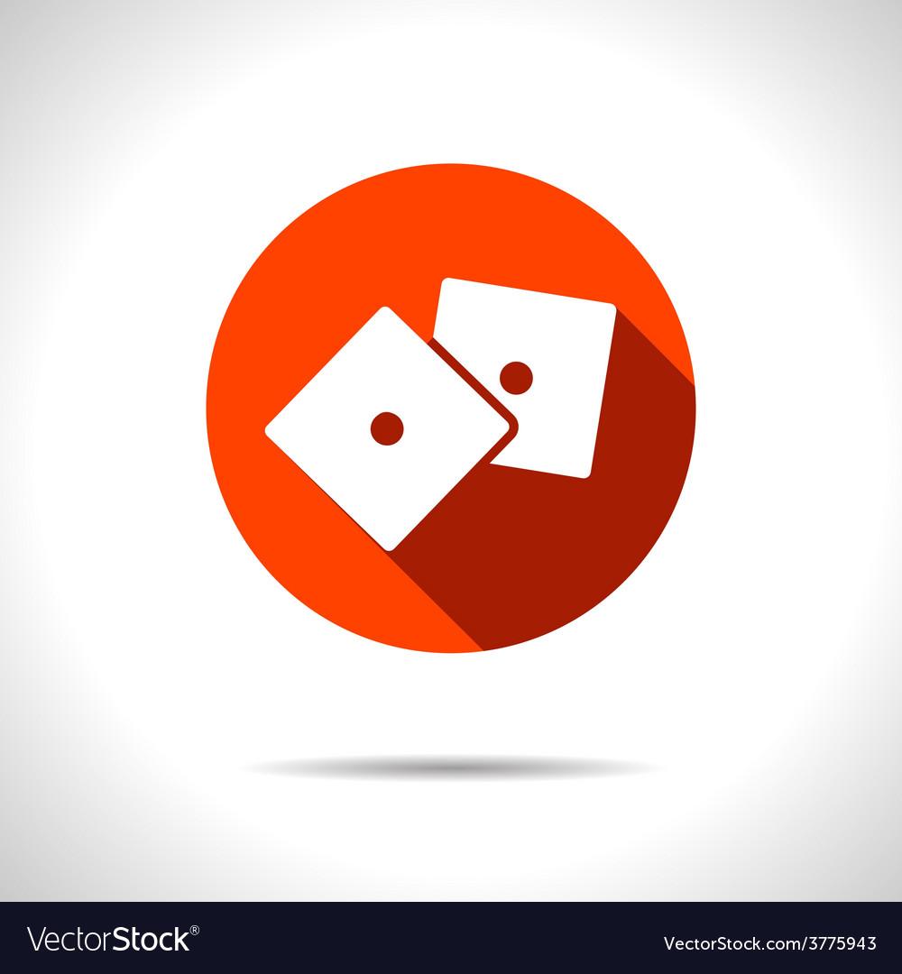 Dice icon eps10 vector   Price: 1 Credit (USD $1)