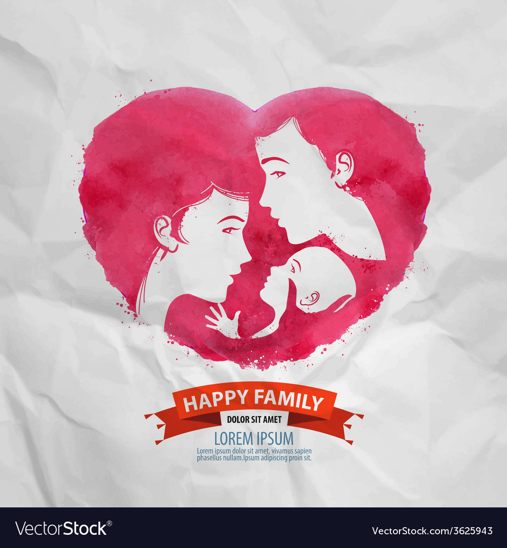 Happy family logo design template motherhood or vector | Price: 1 Credit (USD $1)
