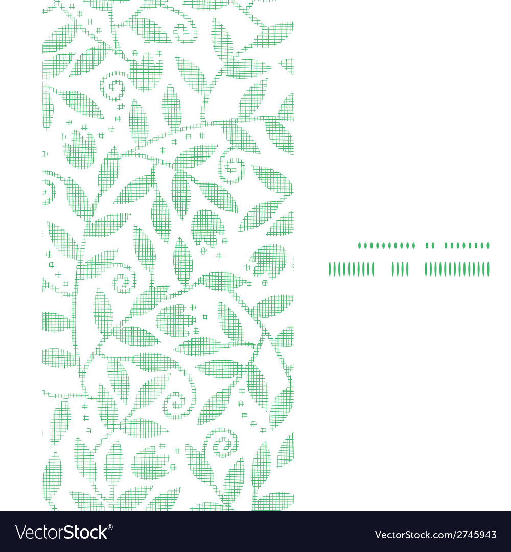 Leaves and swirls textile vertical frame seamless vector | Price: 1 Credit (USD $1)