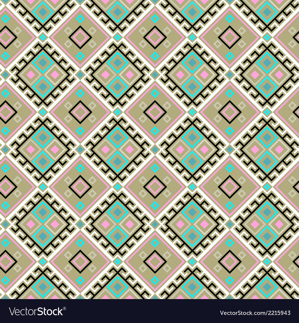 Seamless pattern with color geometric shapes vector | Price: 1 Credit (USD $1)