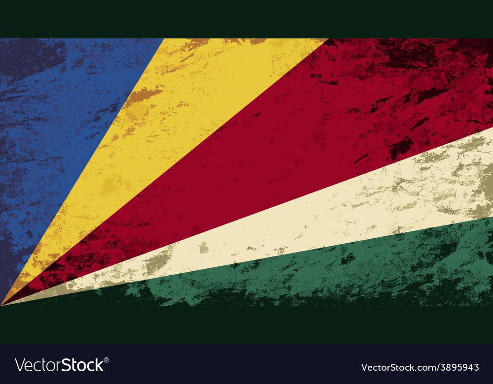 Seychelles flag grunge background vector | Price: 1 Credit (USD $1)