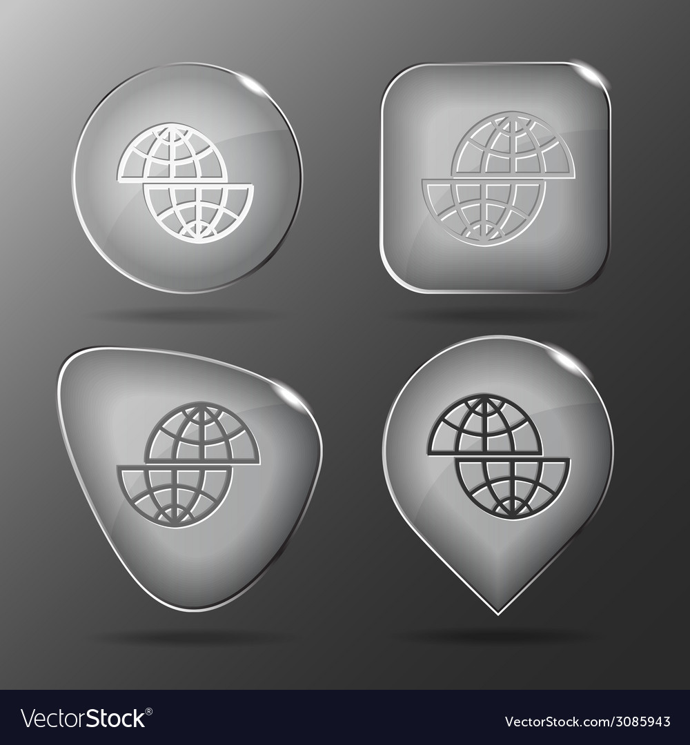 Shift globe glass buttons vector | Price: 1 Credit (USD $1)