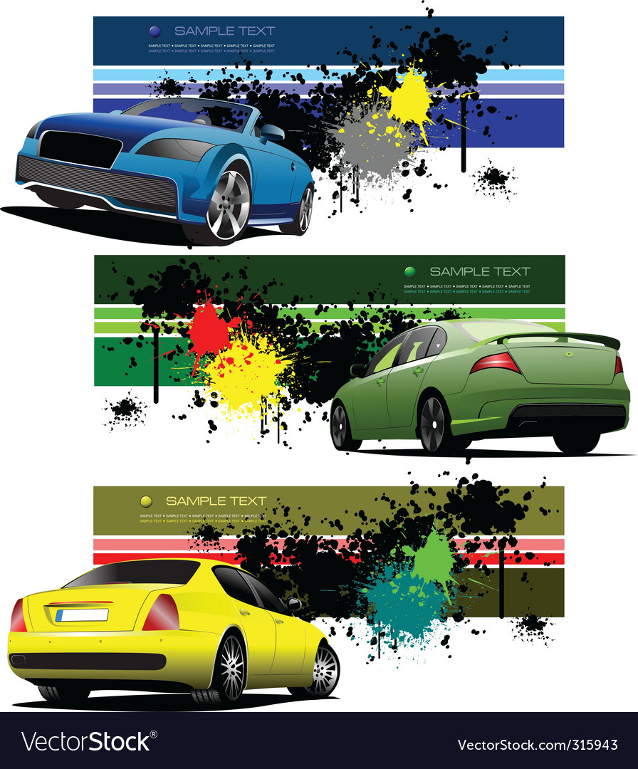 Sportscar banner vector | Price: 3 Credit (USD $3)