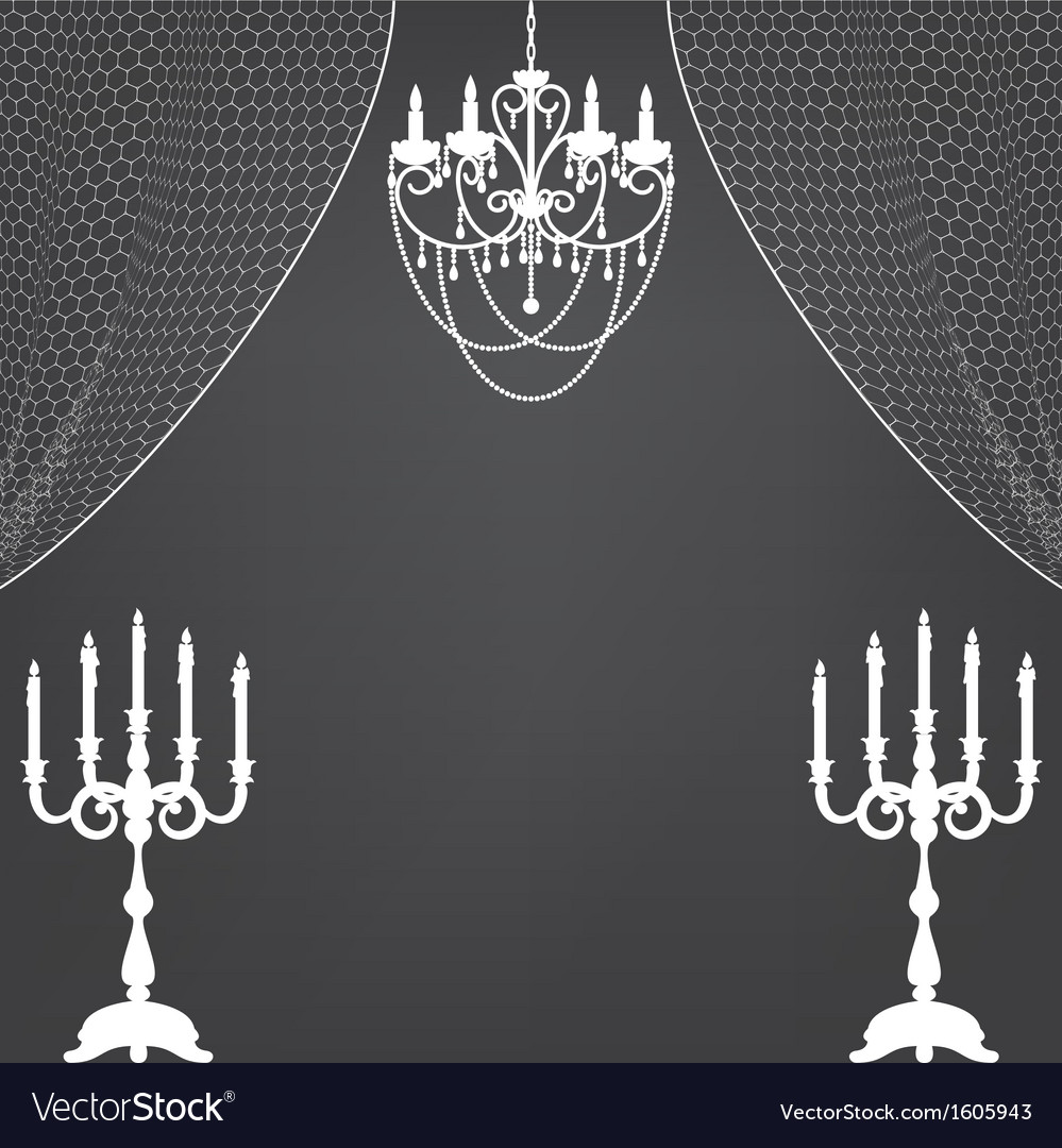 Vintage dark background with chandelier and vector | Price: 1 Credit (USD $1)