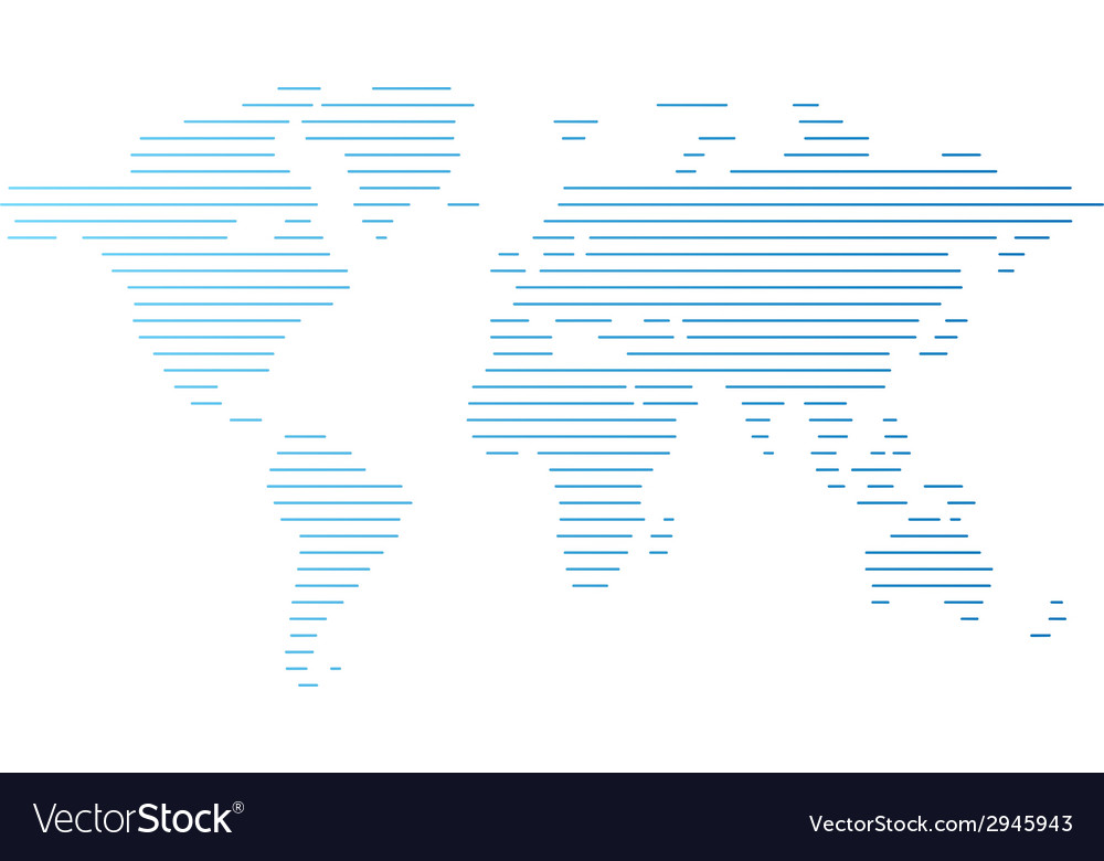 World map of blue lines vector | Price: 1 Credit (USD $1)