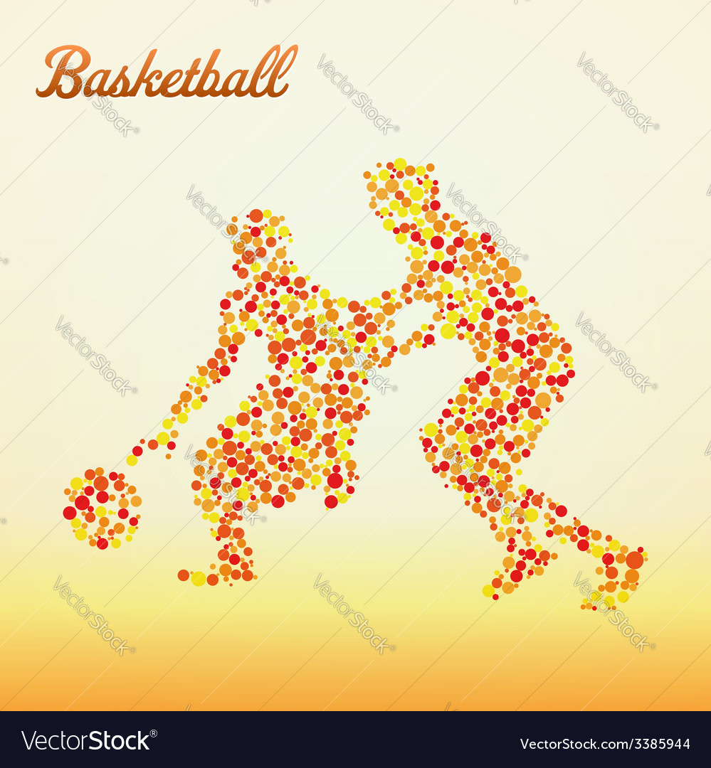 Abstract basketball player vector | Price: 1 Credit (USD $1)